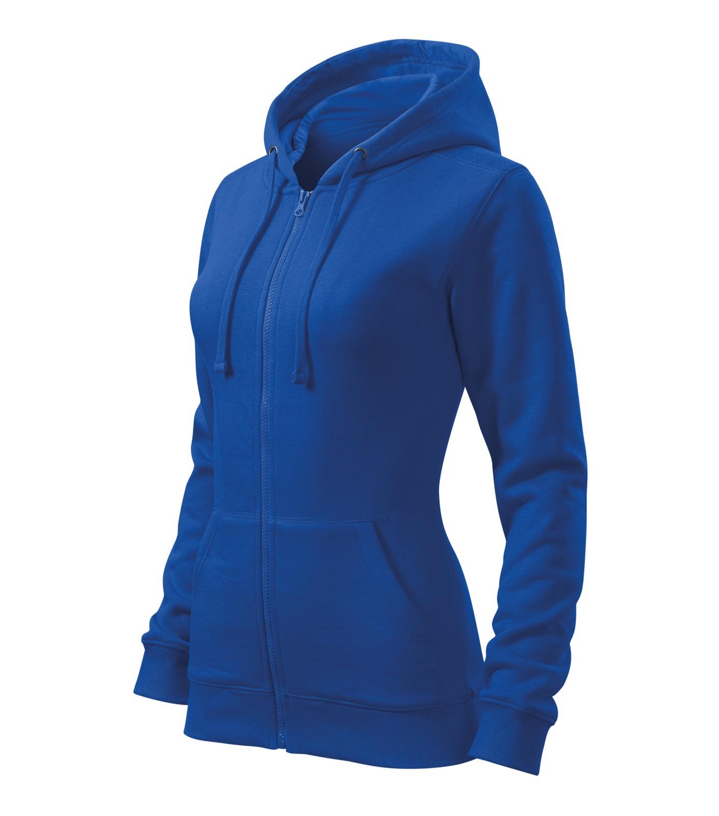 Sweatshirt women's Malfini Trendy Zipper - Royal Blue / S
