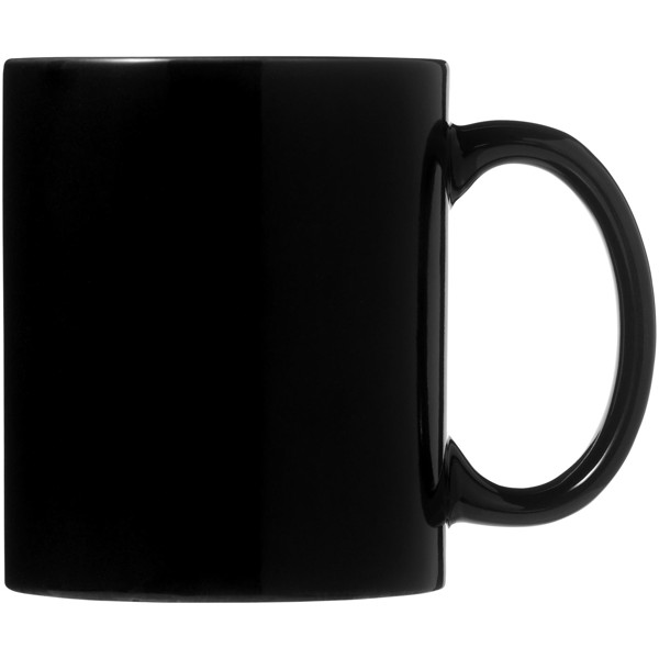 Ceramic mug 2-pieces gift set - Solid black
