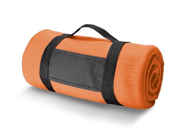 THORPE. Fleecová deka 180 g/m² - Oranžová