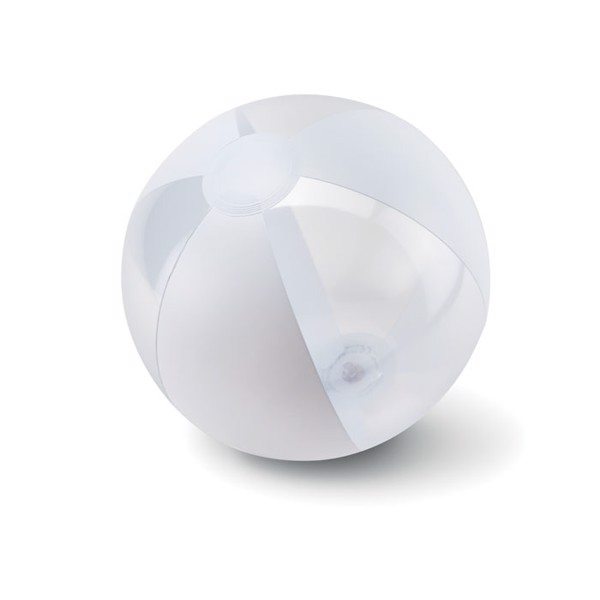 Inflatable beach ball Aquatime - White