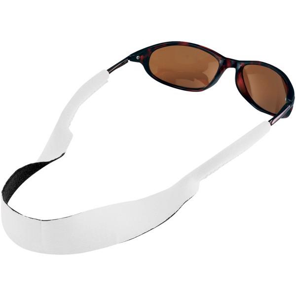 Tropics sunglasses neck strap - White
