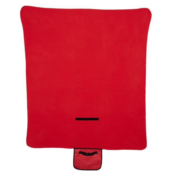 Meadow Picknickdecke aus Fleece mit Klettverschluss - Rot