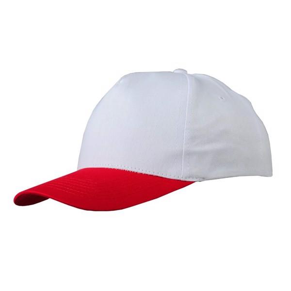 Czapka z daszkiem Coimbra - Biały / Czerwony