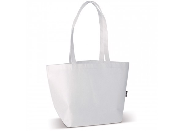 Shoulder bag non-woven 75g/m² - White