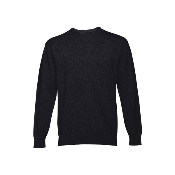MILAN RN. Pánský svetr s kulatým výstřihem - Černá / S