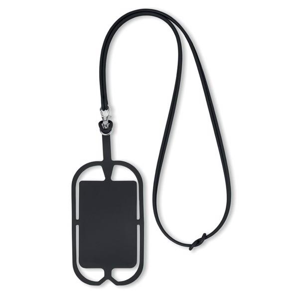 Silicone smartphone hanger Silihanger - Black