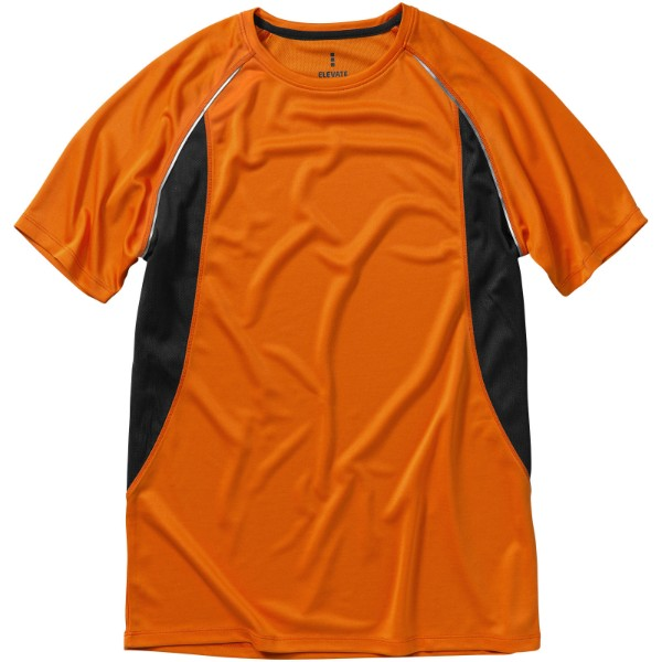 Pánské Tričko Quebec s krátkým rukávem, cool fit - 0ranžová / Anthracitová / XL