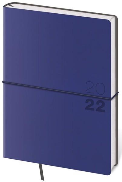 Denní diář A5 Flexio tmavě modrý s gumičkou 2022