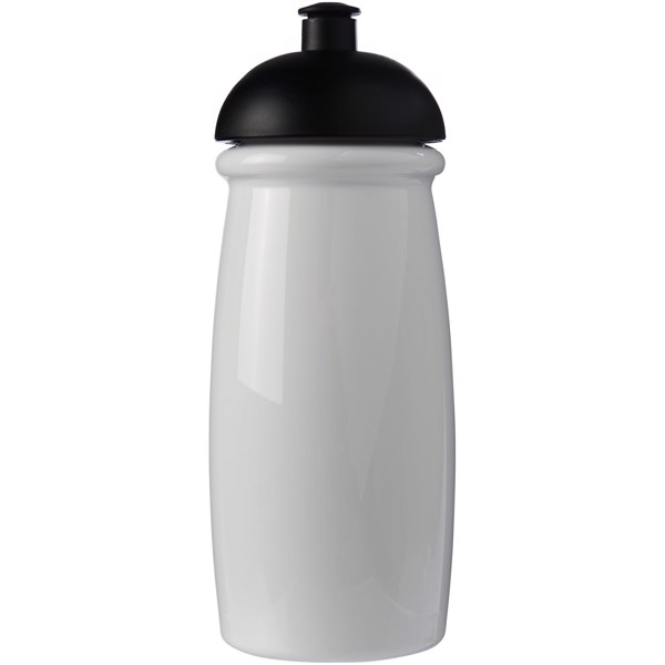 H2O Pulse® 600 ml dome lid sport bottle - White / Solid black