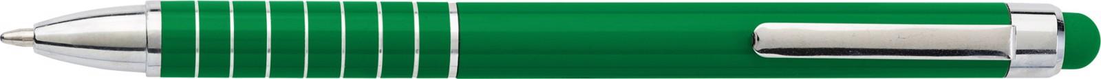 Aluminium lacquered ballpen - Green