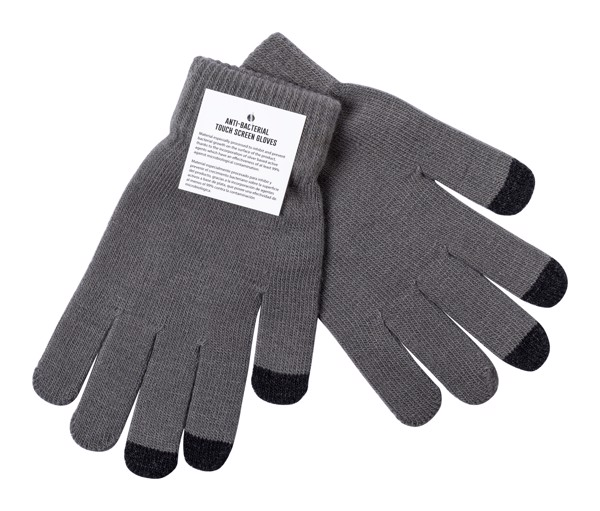 Anti-Bacterial Touch Screen Gloves Tenex - Ash Grey / Black