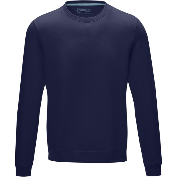 Jasper men's GOTS organic GRS recycled crewneck sweater - Navy / XXL