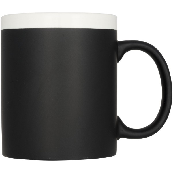Chalk-write 330 ml ceramic mug - White