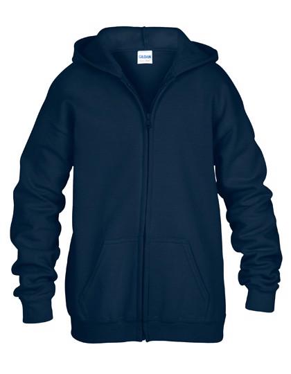Heavy Blend™ Youth Full Zip Hooded Sweatshirt - Navy / S