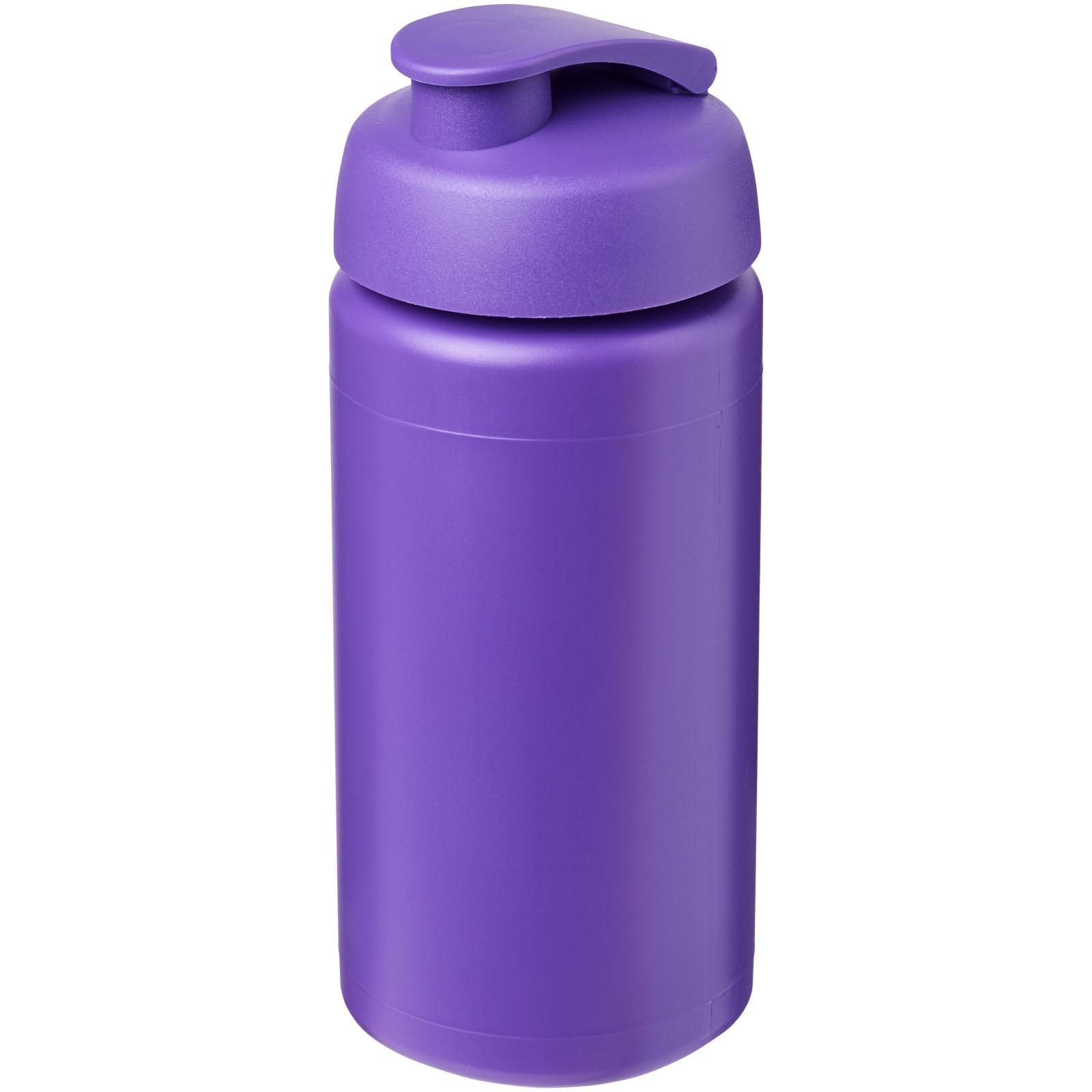 Sportovní láhev s vyklápěcím víčkem Baseline® Plus grip 500 ml - Purpurová