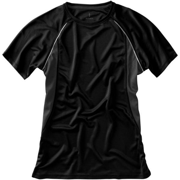 Dámské Tričko Quebec s krátkým rukávem, cool fit - Černá / Anthracitová / XXL