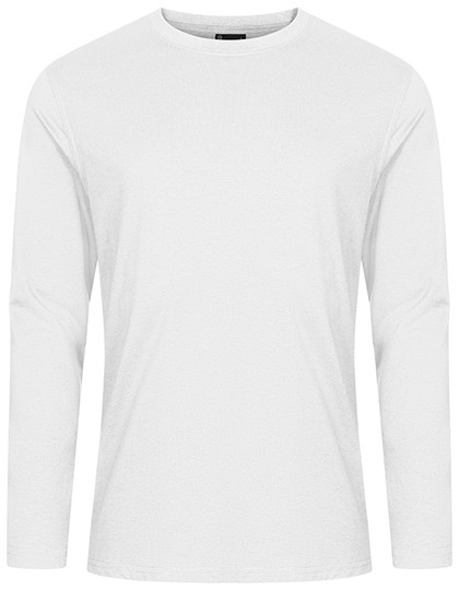 Men´S T-Shirt Longsleeve - White / 5XL