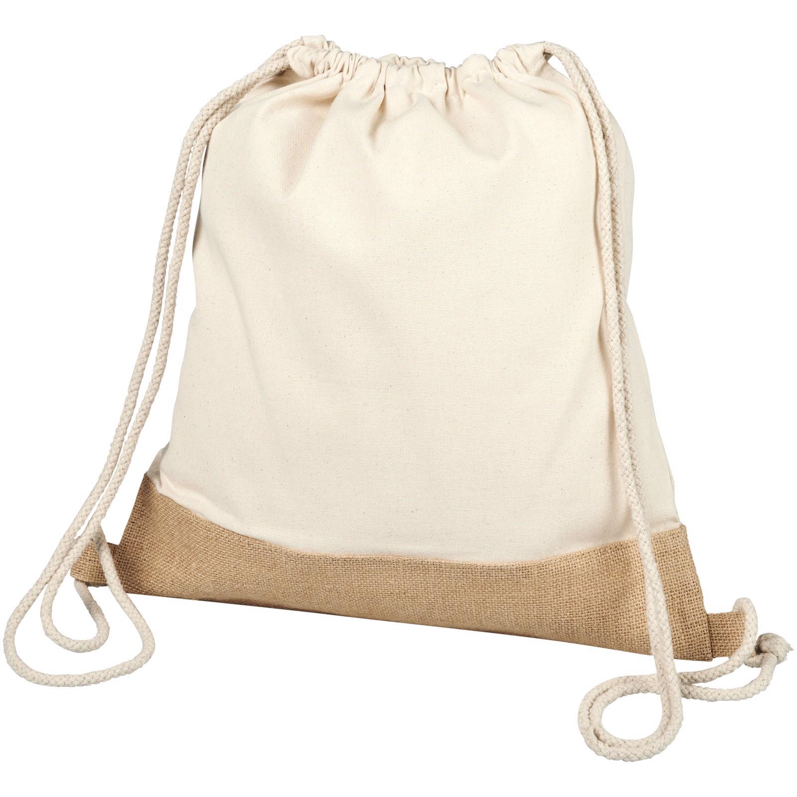 Delhi šňůrkový batoh z juty a bavlny