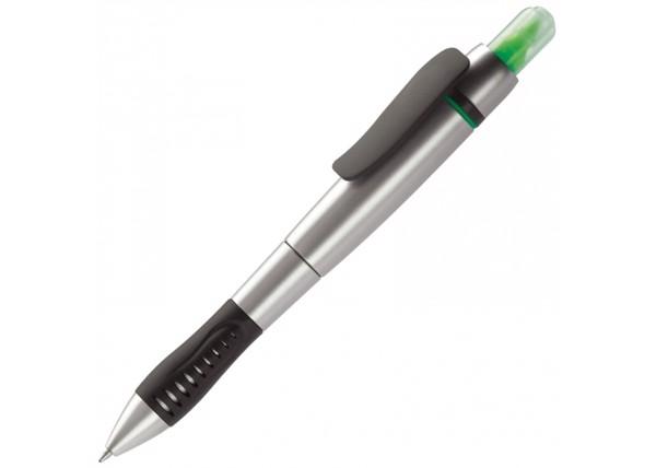 Highlighter- and ball pen - Silver / Green