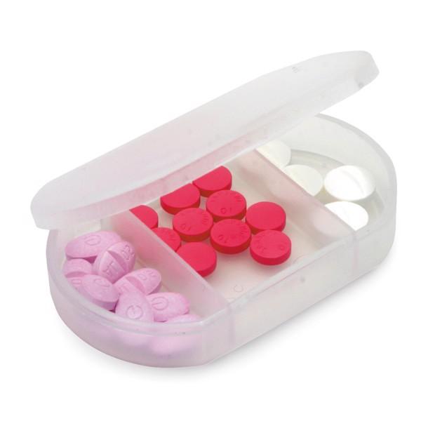 Krabička na tabletky - Bílá