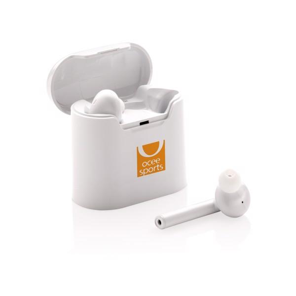 Liberty kabellose Kopfhörer in Ladebox - Weiß