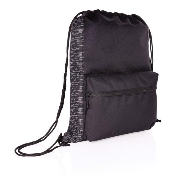 RPET odsevna športna torba z vrvicami AWARE™