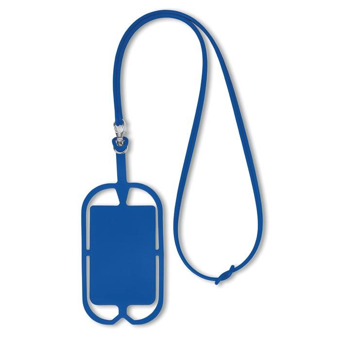 Silikonowy uchwyt na smartfona Silihanger - niebieski