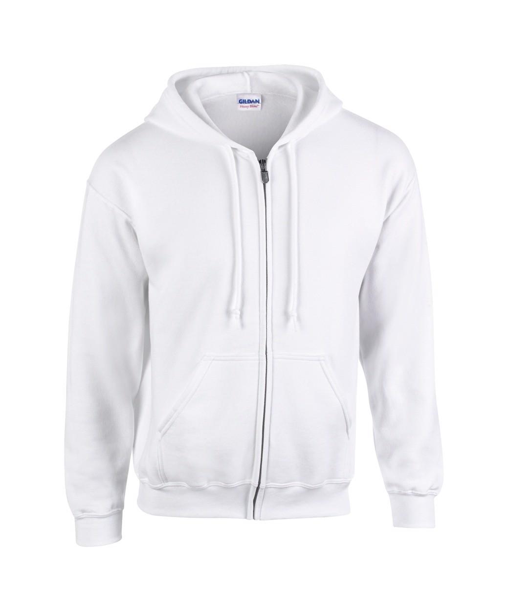 Sweatshirt HB Zip Hooded - White / S