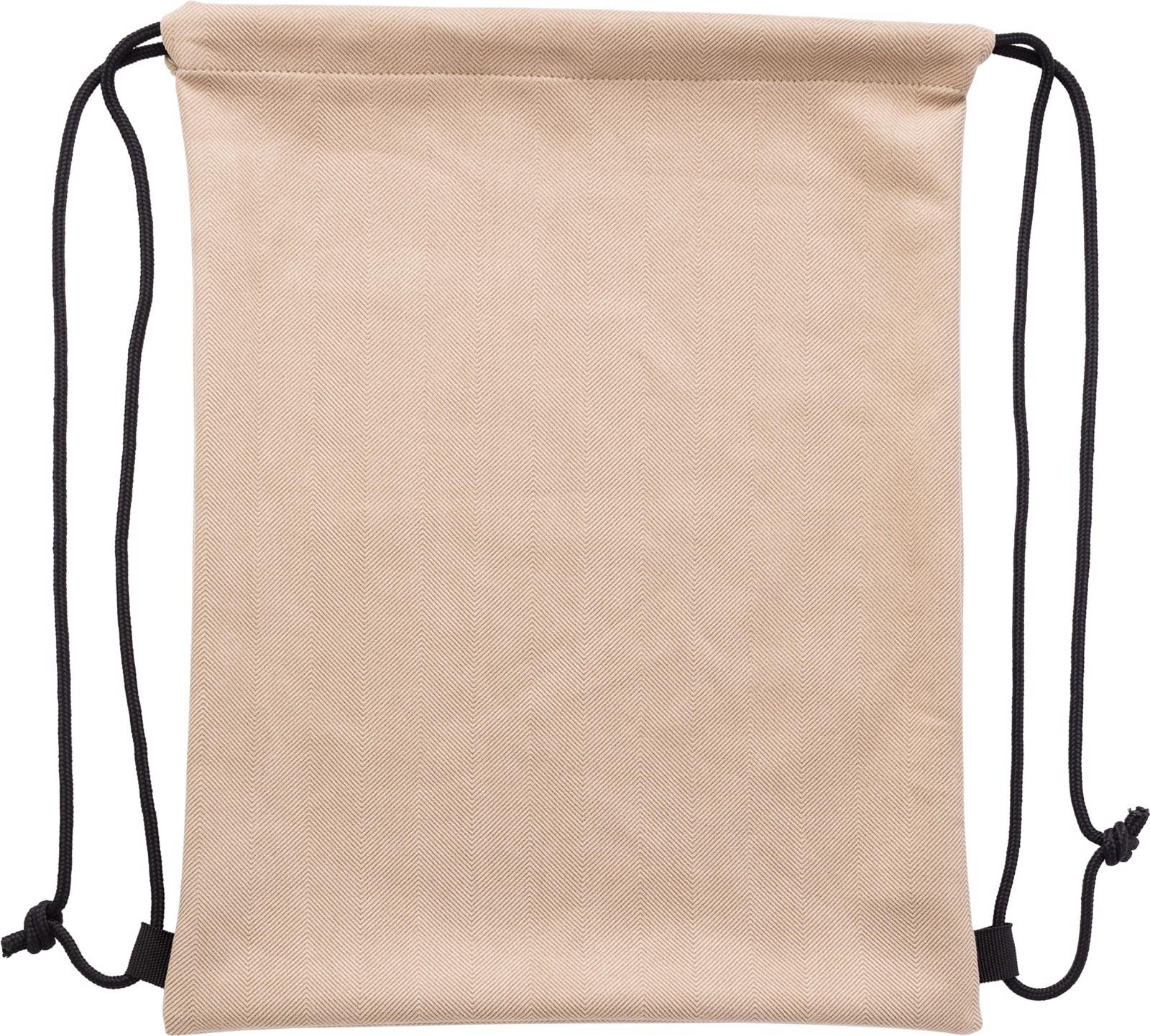 Polyester (210D) drawstring backpack - Khaki