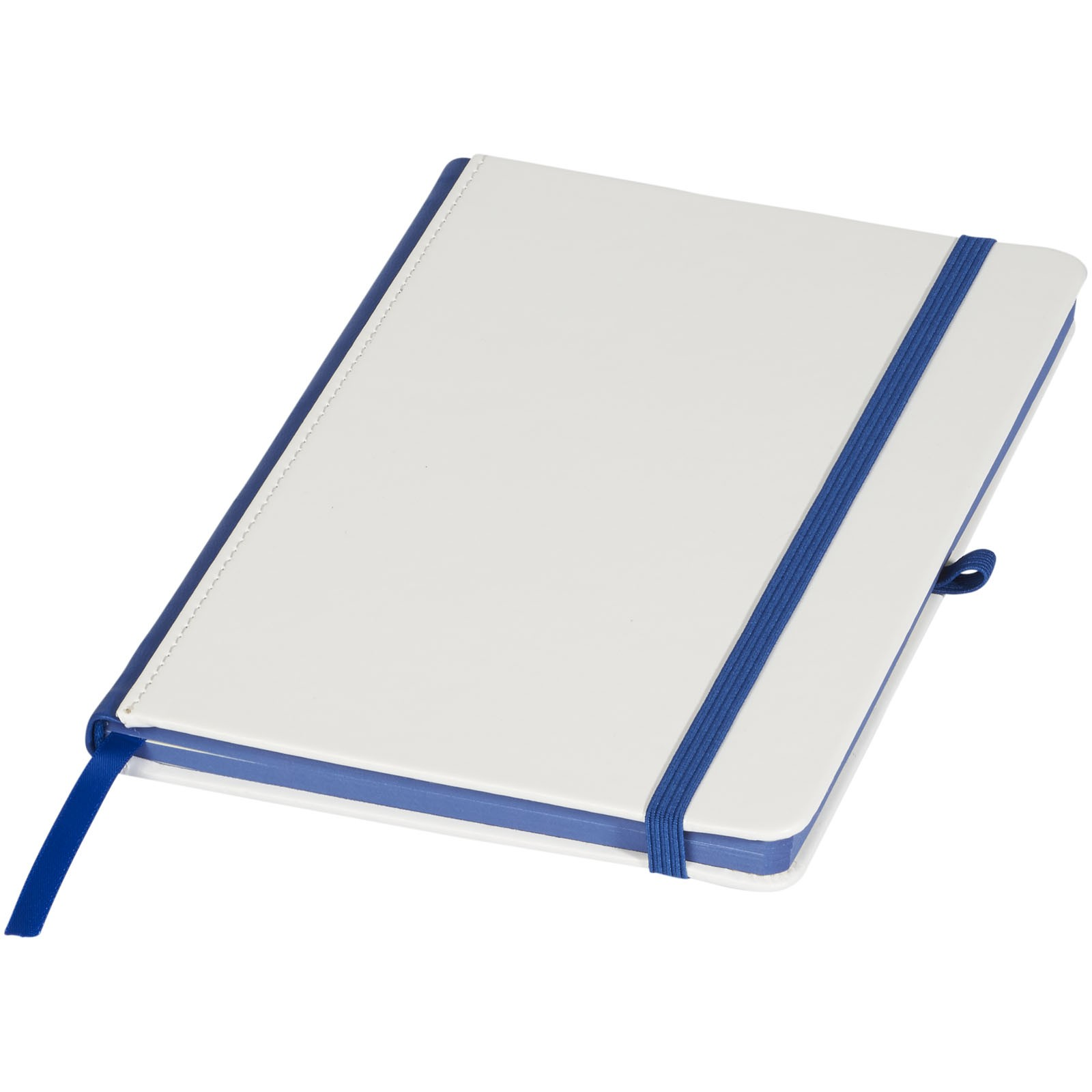 A5 Notizbuch für Digitaldruck - Weiss / Royalblau
