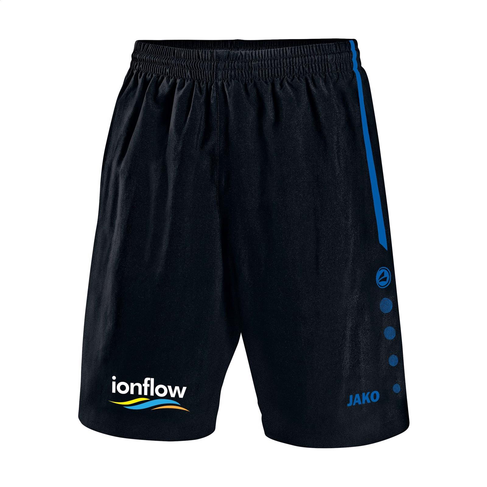Jako® Short Turin Kids sportspants - Black / Cobalt Blue / 128