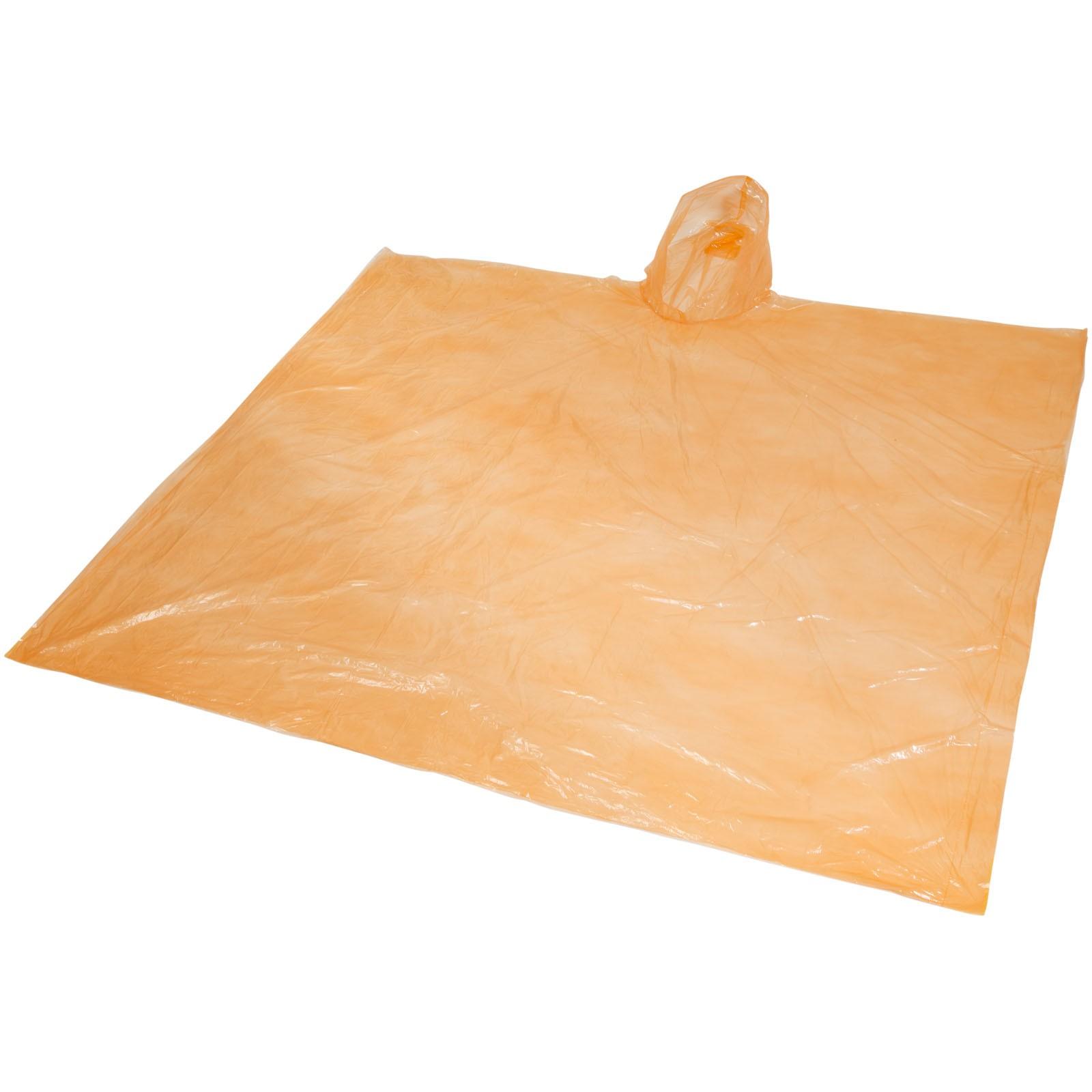 Ziva Einweg Regenponcho mit Hülle - Orange