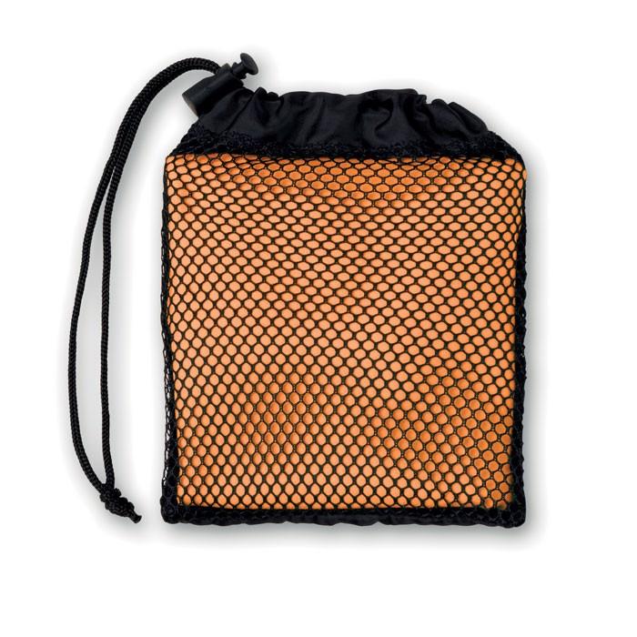 Sports towel with pouch Tuko - Orange