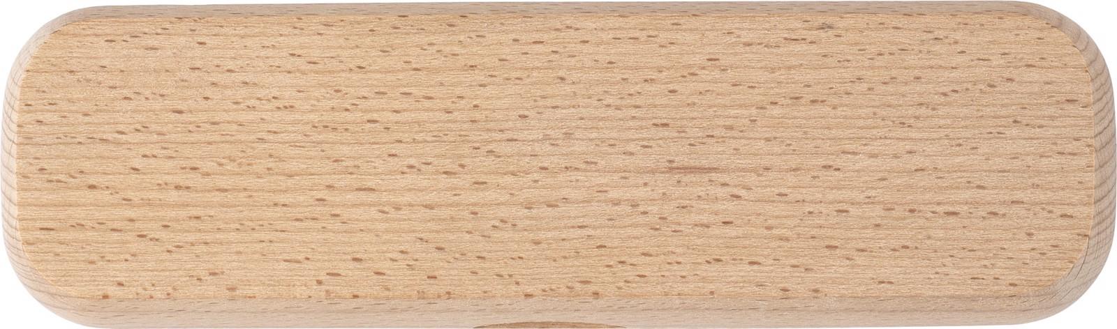 Bolígrafo y roller, de madera de haya
