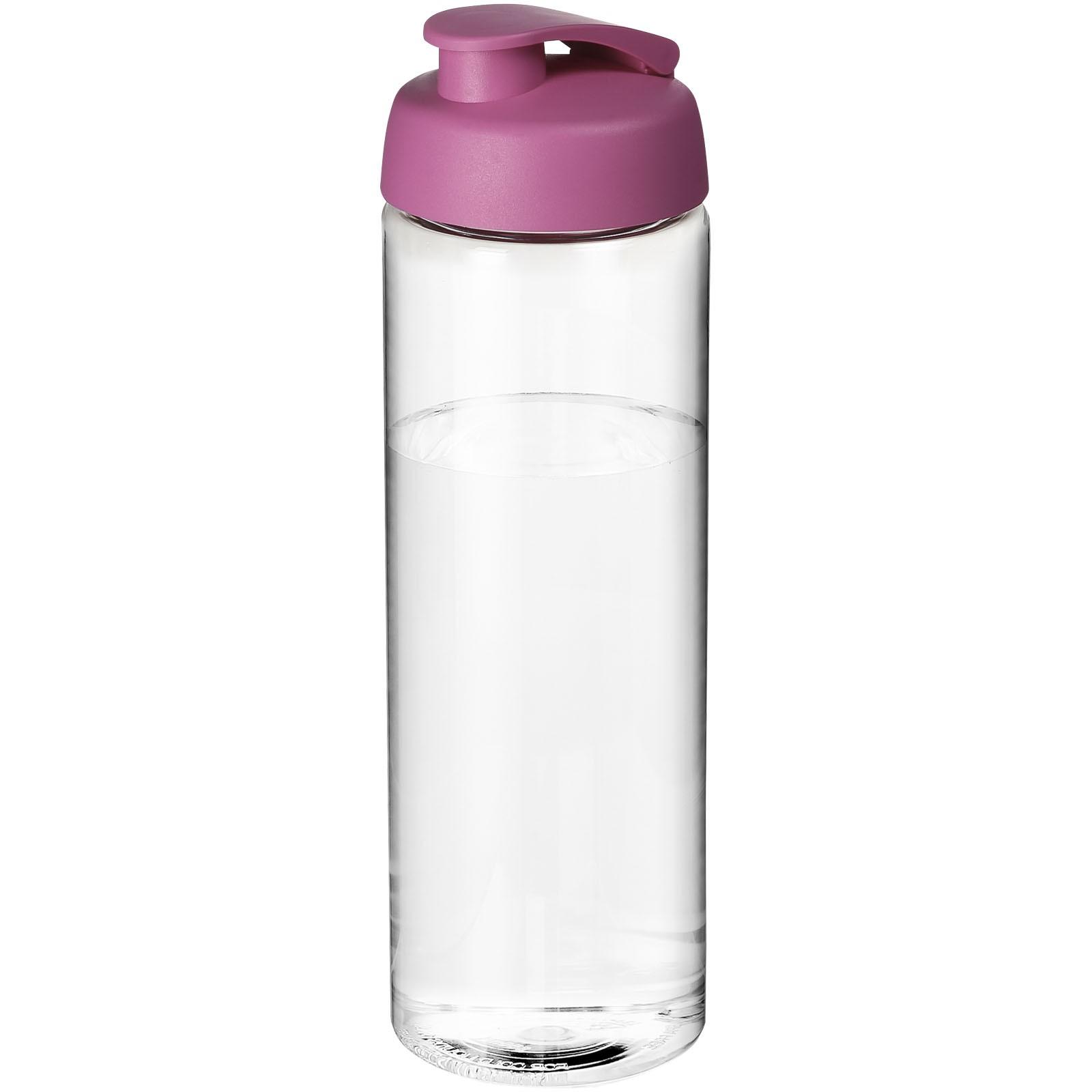 H2O Vibe 850 ml sportovní lahev s vyklápěcím víčkem - Průhledná / Růžová