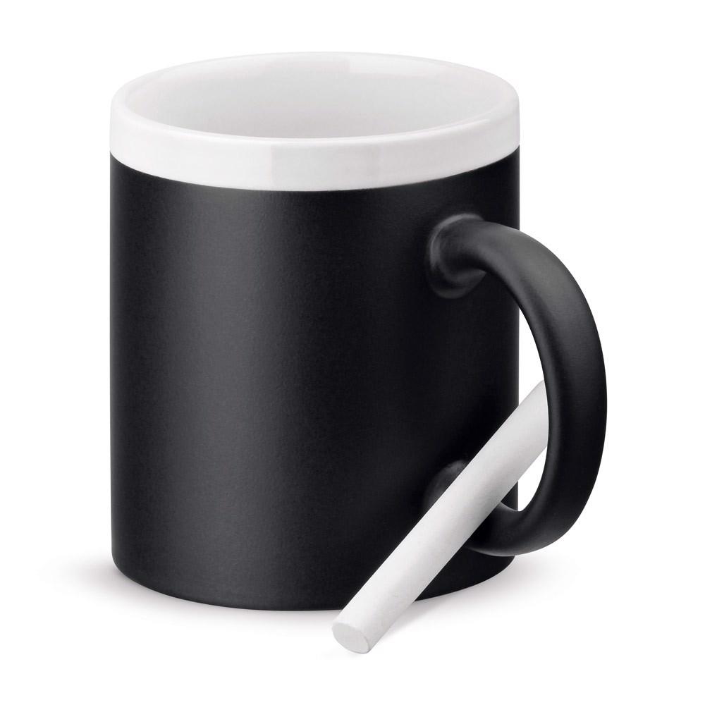 CHALKIE. Ceramic mug 350 ml - White