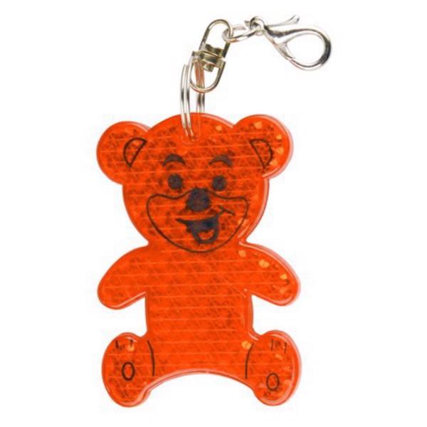 Brelok odblaskowy Teddy - Pomarańczowy