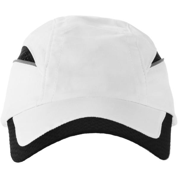Qualifier 6 panel mesh cap - White / Solid Black