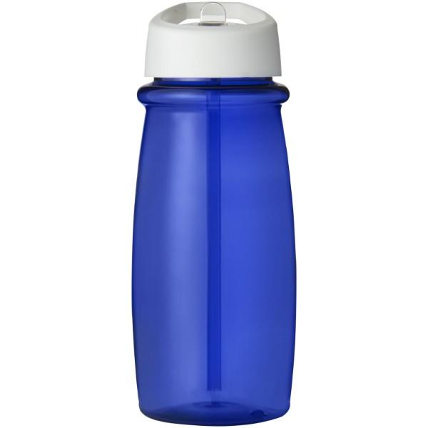 H2O Pulse 600 ml Sportflasche mit Ausgussdeckel - Blau / Weiss