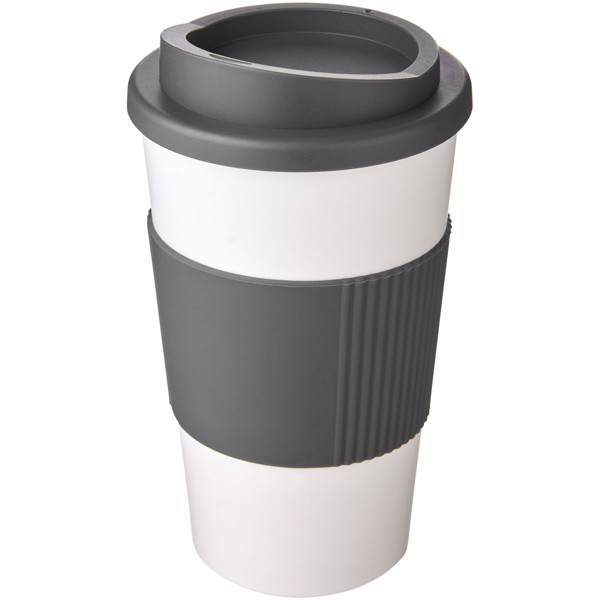 Americano® 350 ml insulated tumbler with grip - White / Grey