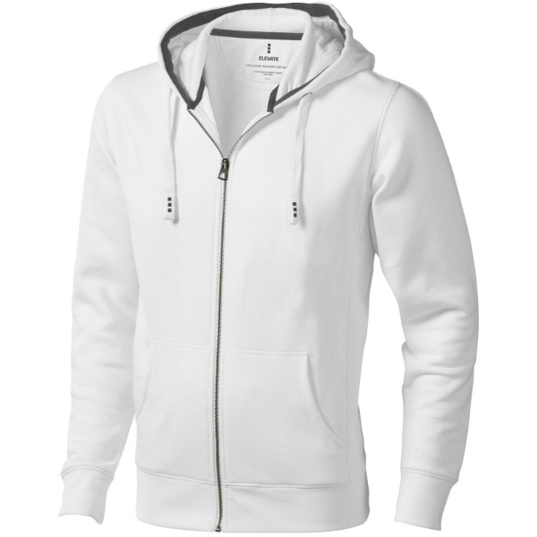 Arora hooded full zip sweater - White / 3XL