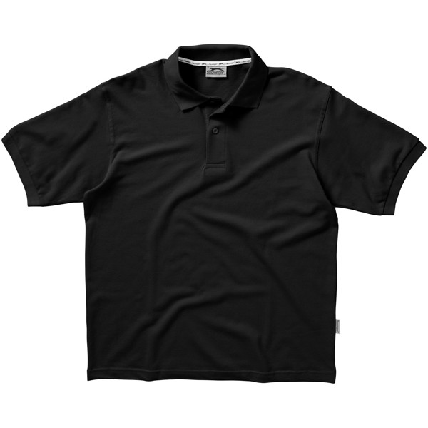 Forehand short sleeve men's polo - Solid black / XXL