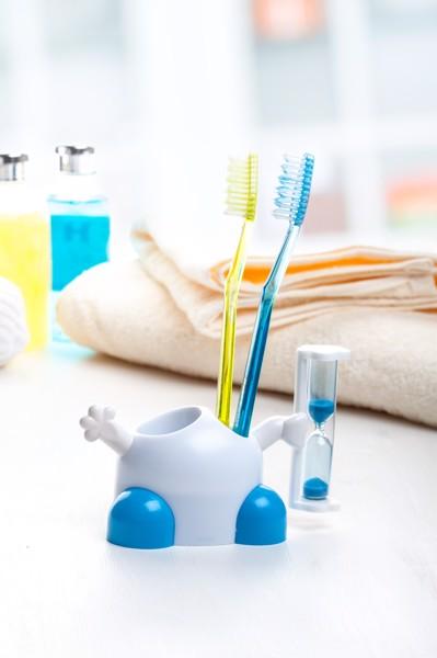 Stojánek Na Zubní Kartáček Sandman - Bílá / Modrá