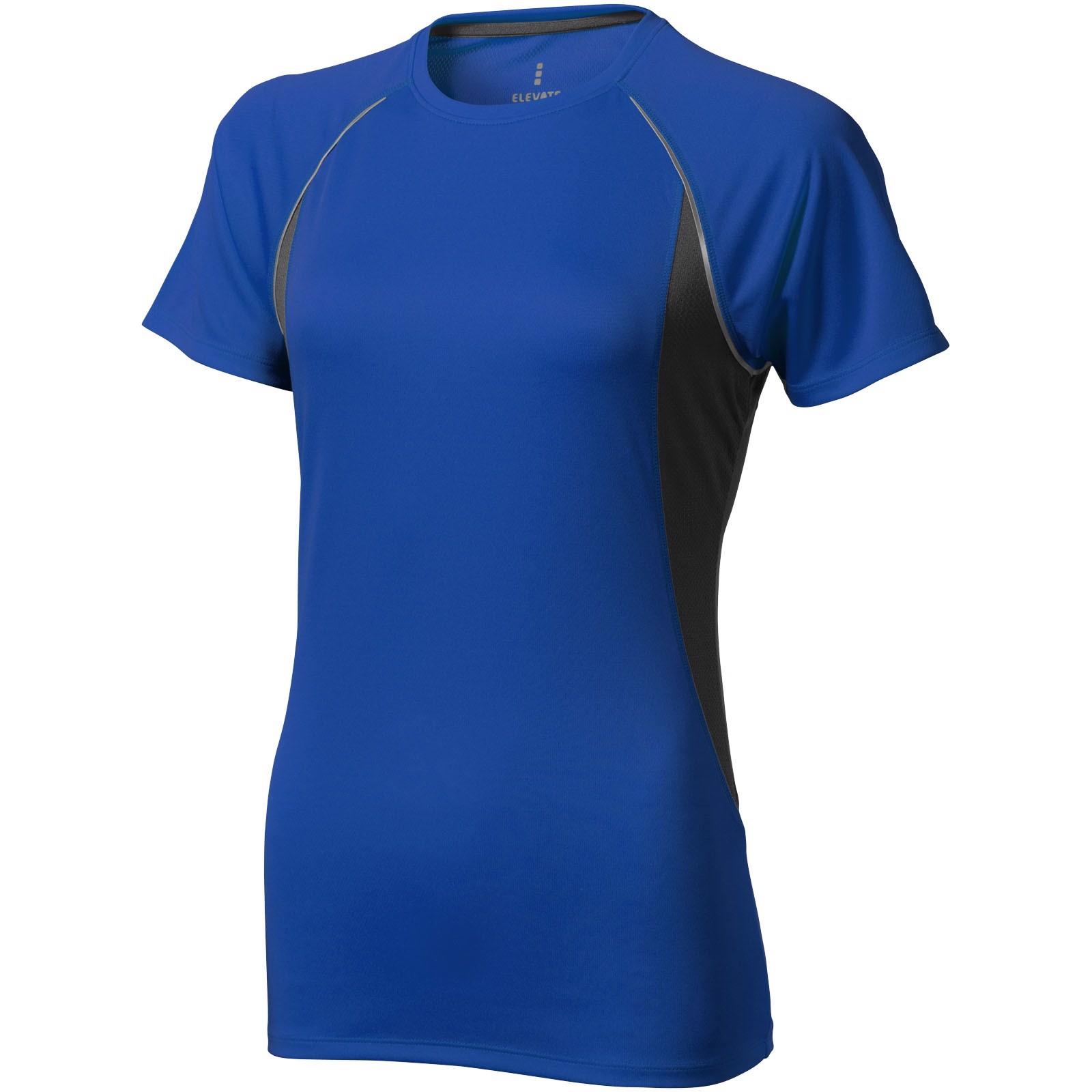 Dámské Tričko Quebec s krátkým rukávem, cool fit - Modrá / Anthracitová / XS