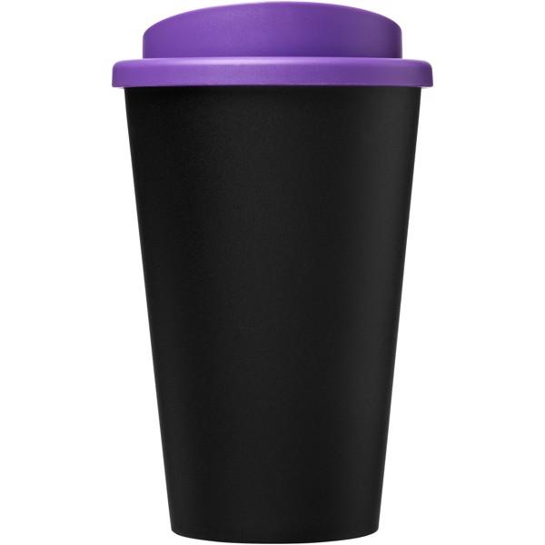 Americano Eco Vaso reciclado de 350 ml - Negro intenso / Morado