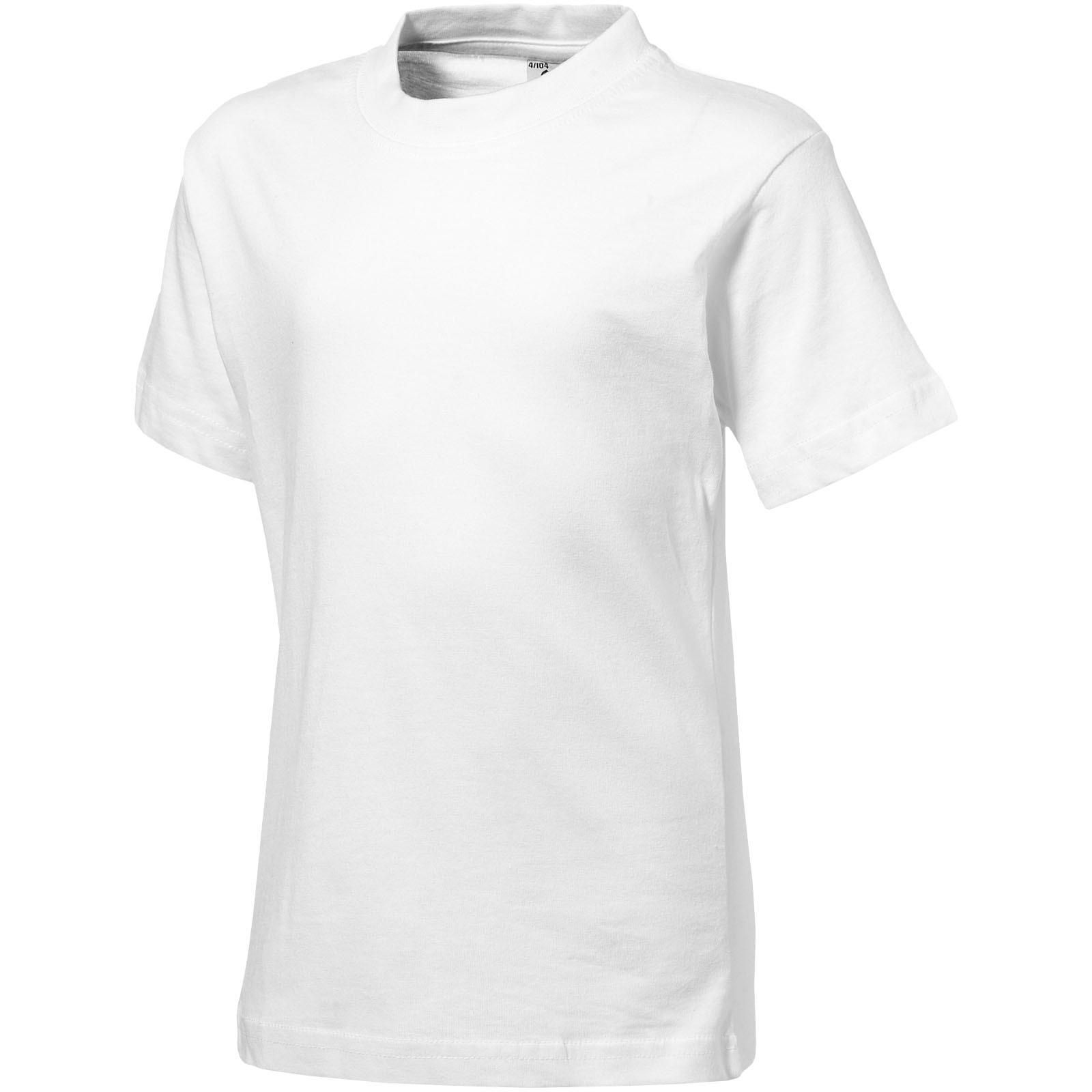 Ace short sleeve kids t-shirt - White / 128