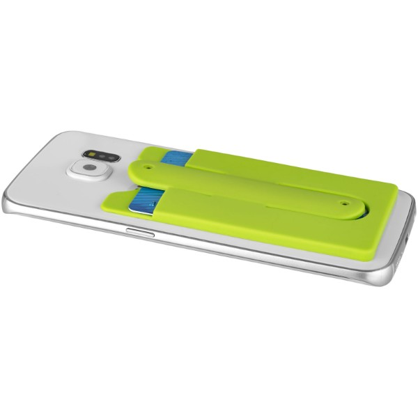 Stue silicone smartphone stand and wallet - Lime