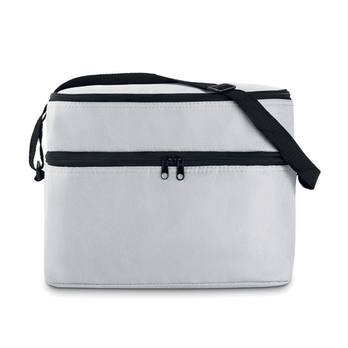 Cooler bag with 2 compartments Casey - White