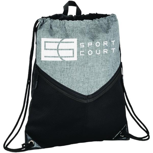 Voyager drawstring backpack - Solid black / Grey