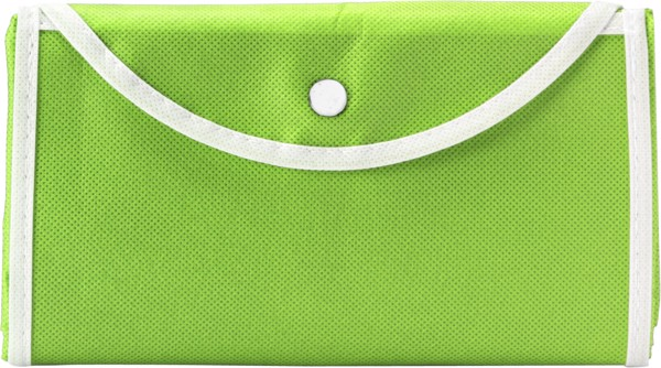 Nonwoven (80 g/m²) foldable shopping bag - Lime
